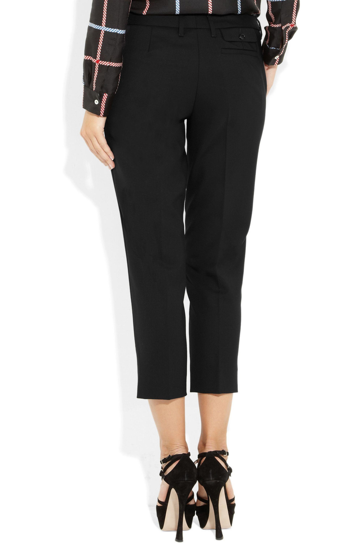 Miu Miu Cropped stretch-wool gabardine pants
