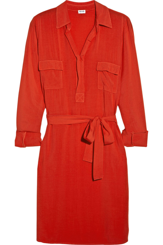 Splendid Washed-crepe shirt dress