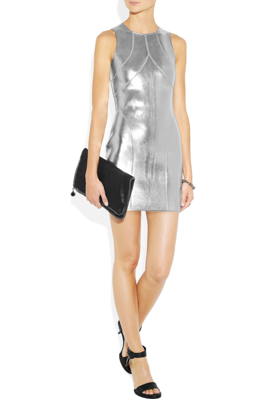 Silver The Love In Metallic Neoprene Dress Sass Bide Net A Porter
