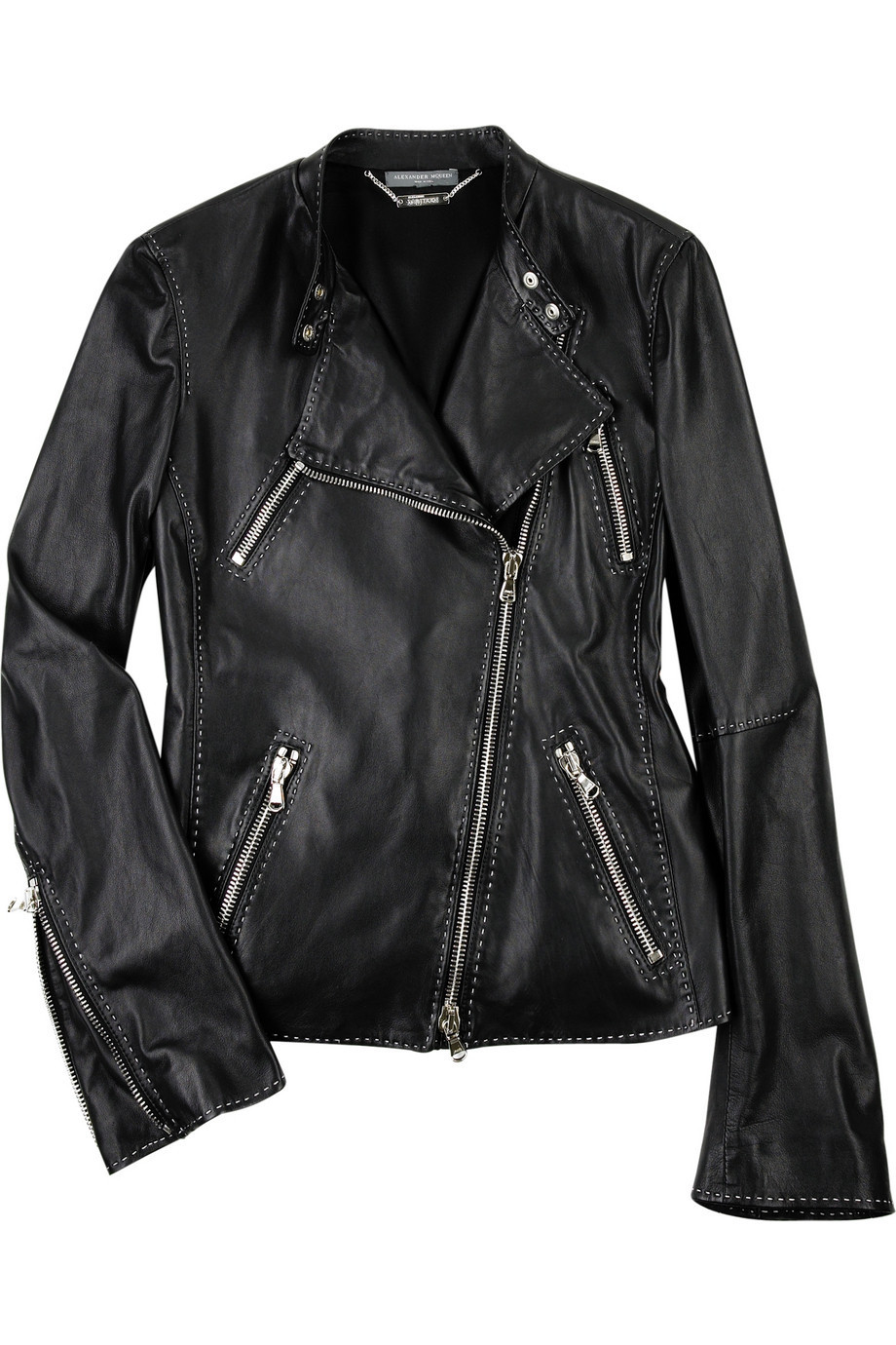 Alexander McQueen Leather biker jacket  | NET-A-PORTER.COM from net-a-porter.com