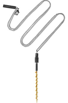 Eddie Borgo | Router gunmetal-plated and gold-tone necklace | NET-A-PORTER.COM