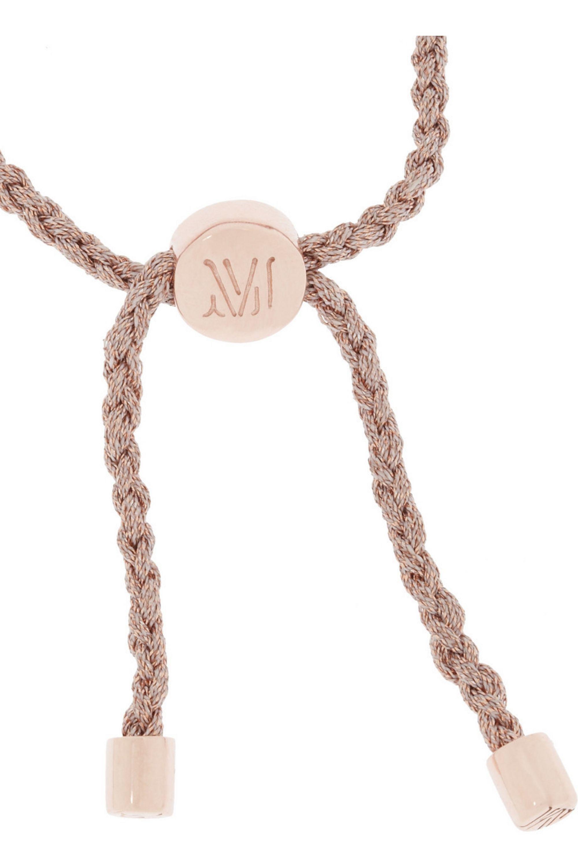 Monica Vinader Rio 18-karat rose gold-vermeil beaded bracelet