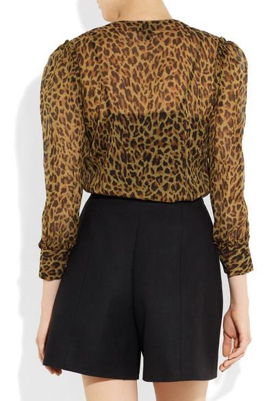 00b3b21ee66681 J.Crew. Leopard-print silk-chiffon blouse.  94. Zoom In