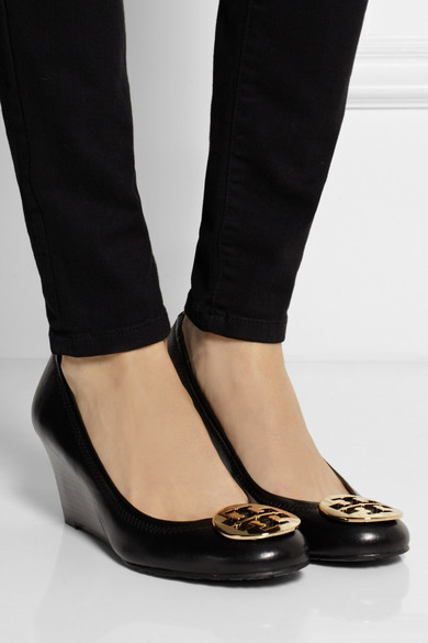 3c78a14c4 Tory Burch. Sally leather wedge pumps