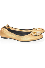 Tory Burch Reva metallic leather ballet flats
