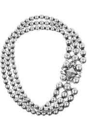 Bottega Veneta Antiqued sterling silver necklace
