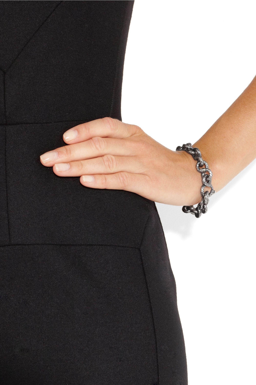 Bottega Veneta Intrecciato sterling silver chain-link bracelet
