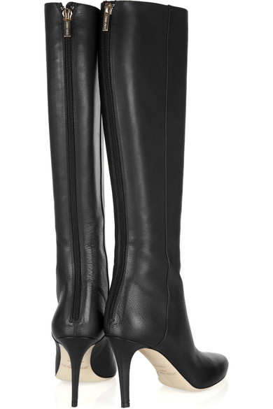 3e389f4e9cc Jimmy Choo. Grand textured-leather knee boots.  995. Zoom In