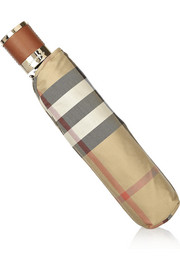 Burberry Shoes & Accessories Small check-print twill umbrella