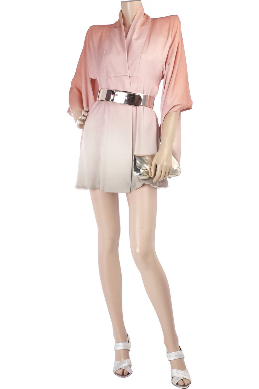 Alexander McQueen Kimono dégradé mini dress