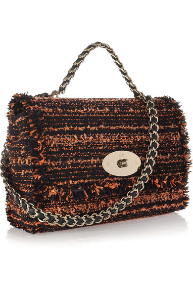 922bd00a00bb ... new zealand mulberry. lily bouclé tweed shoulder bag a3f3f f9441