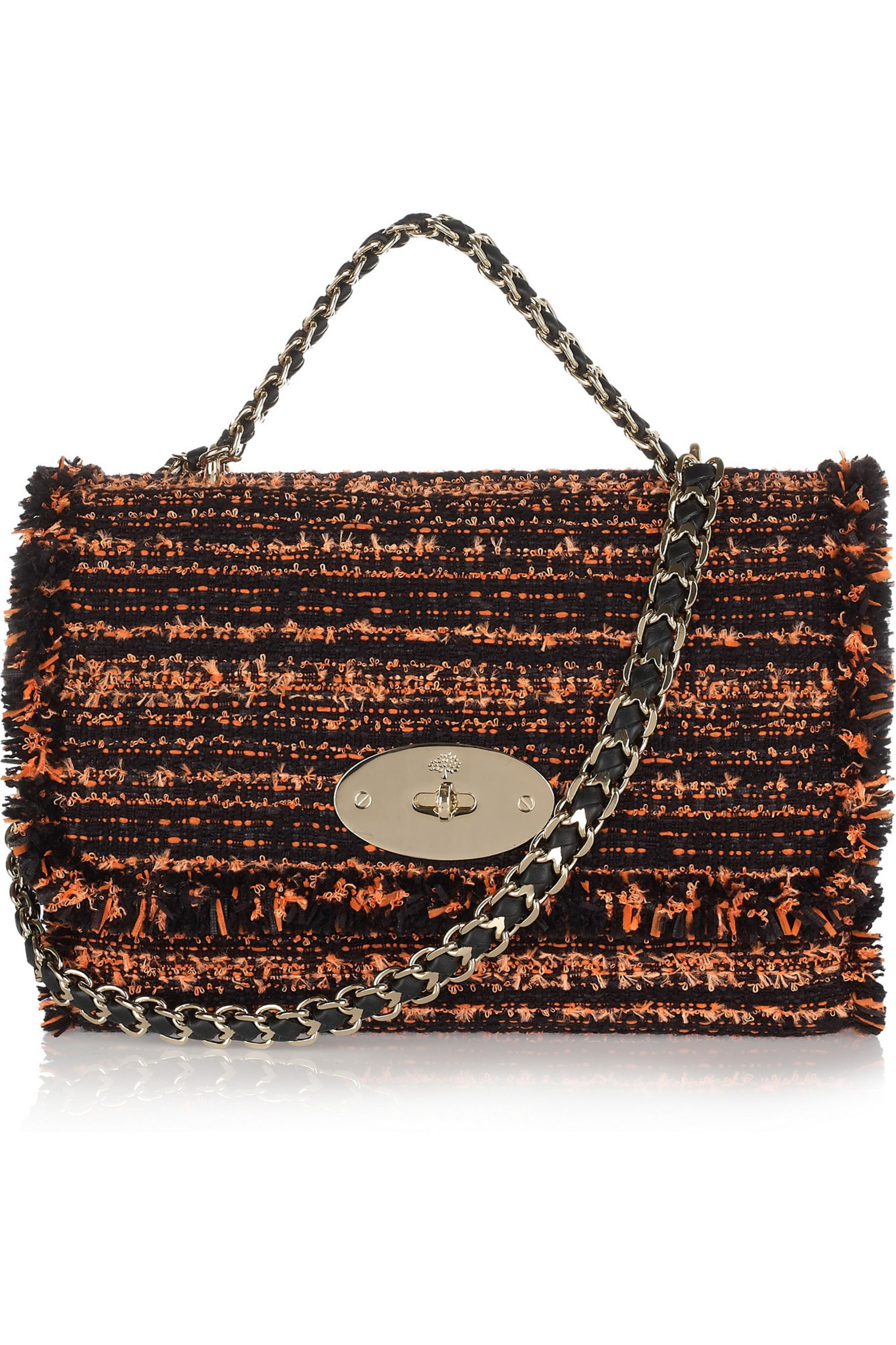 Mulberry Lily bouclé tweed shoulder bag