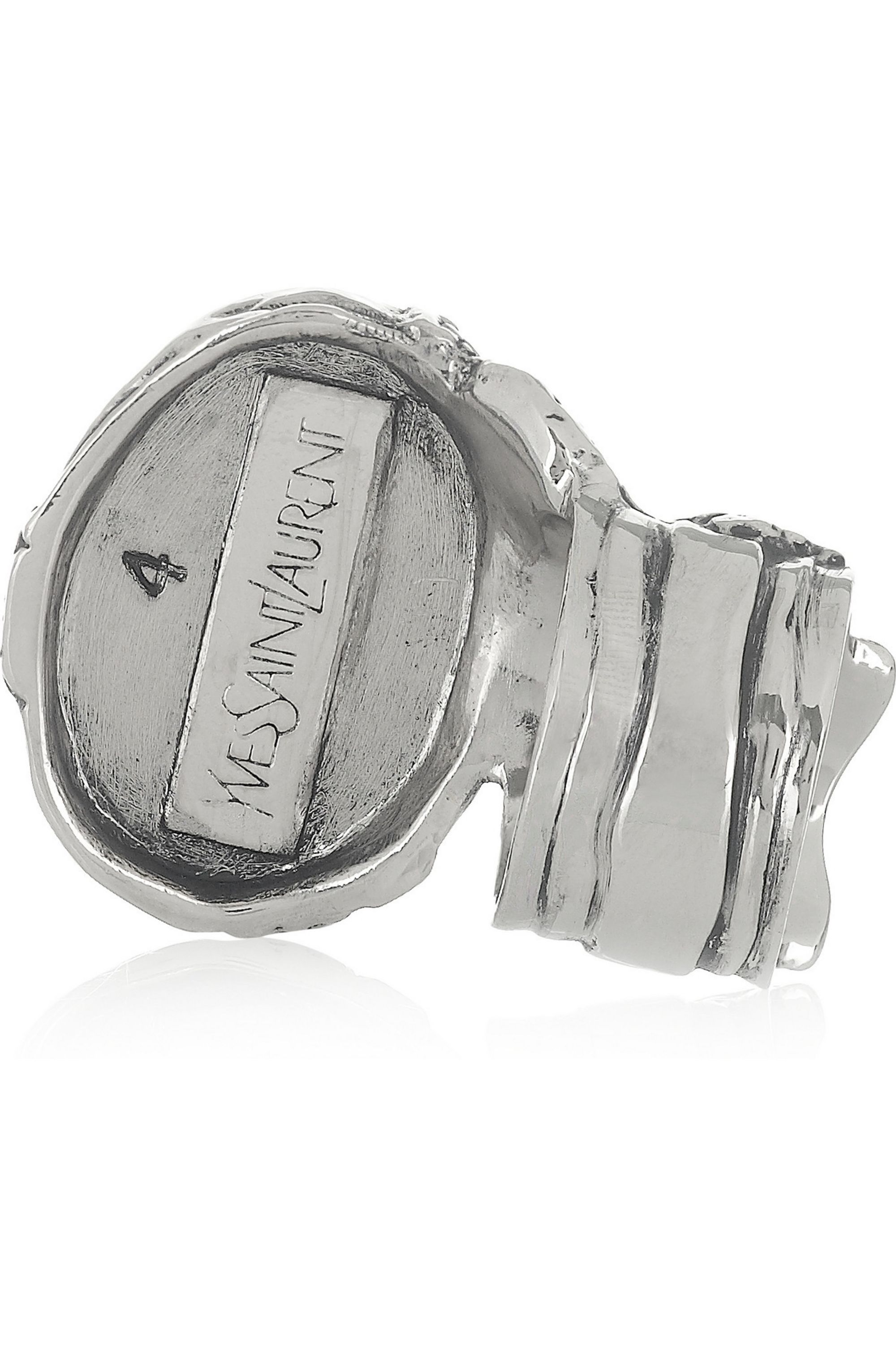 Yves Saint Laurent Arty silver-plated glass ring