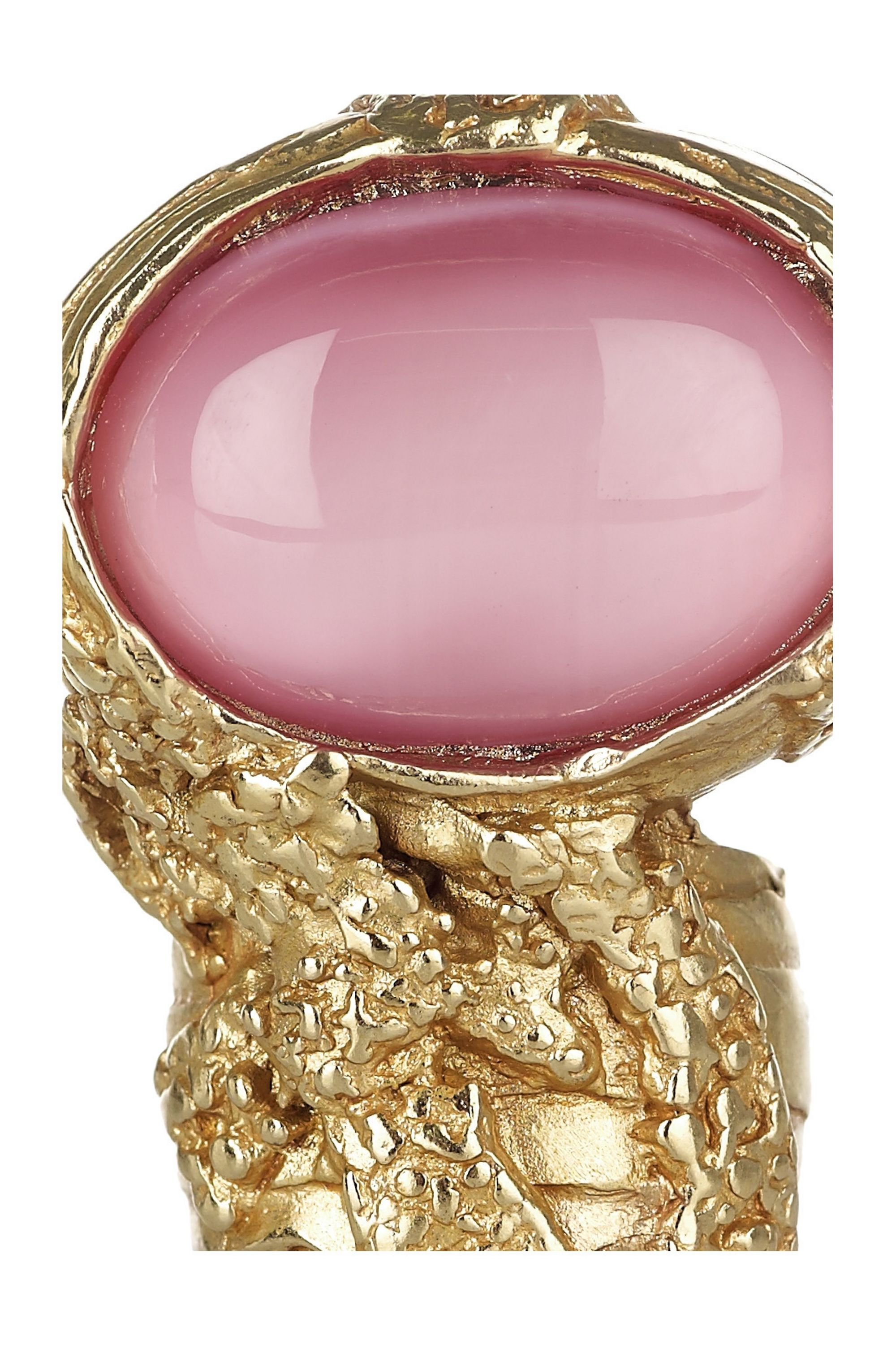 Yves Saint Laurent Arty gold-plated glass ring