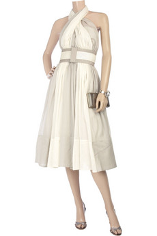 Donna Karan Bi-color halter dress |NET-A-PORTER.COM from net-a-porter.com