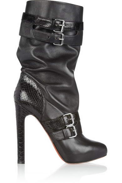 dc83cd53f5d Loubi Bike 140 leather and python boots