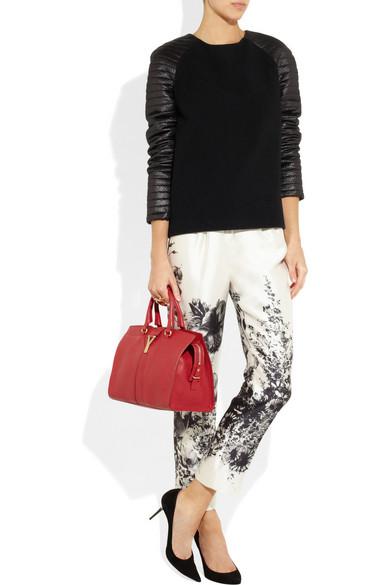 74f46e5da224 Yves Saint Laurent. Mini Cabas Chyc leather tote
