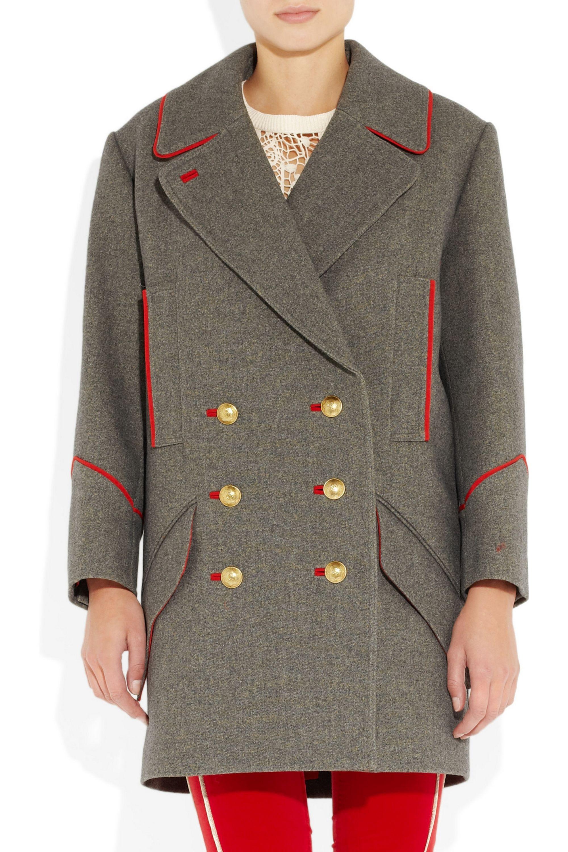 Isabel Marant David oversized wool and cotton-blend coat