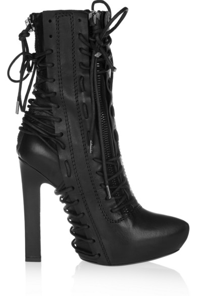 All Goods Haider Ackermann Leather Boots Black Lace up