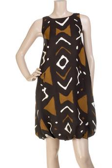 oscar de la renta tribal print dress