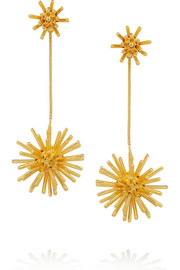 Condor gold-plated clip earrings