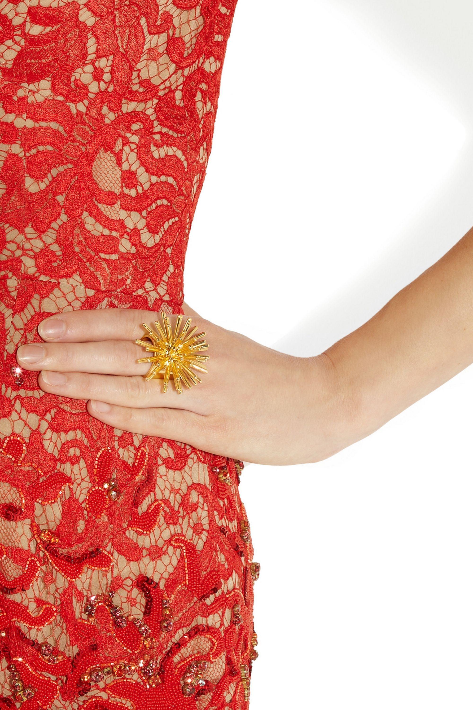 Aurélie Bidermann Condor gold-plated ring