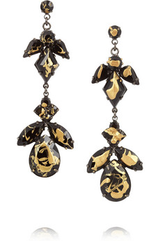 Tom Binns | Splashout painted Swarovski crystal earrings | NET-A-PORTER.COM