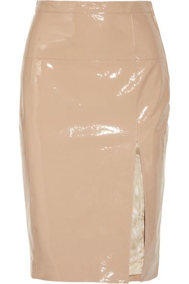 emilio pucci patent leather pencil skirt net a porter