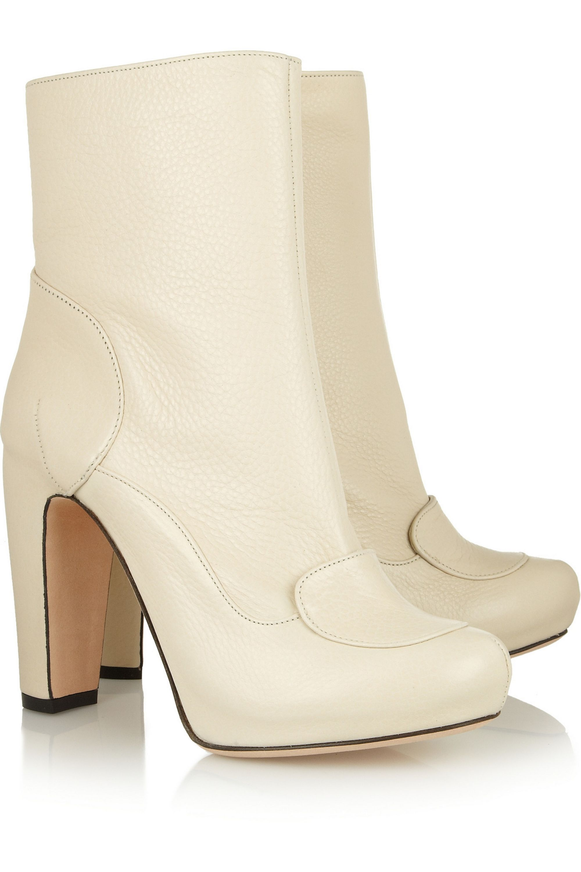 Roland Mouret Maurice textured-leather ankle boots