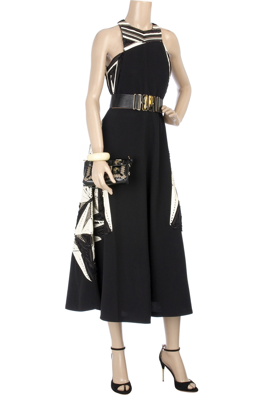 Fendi Embroidered halter dress | NET-A-PORTER.COM from net-a-porter.com
