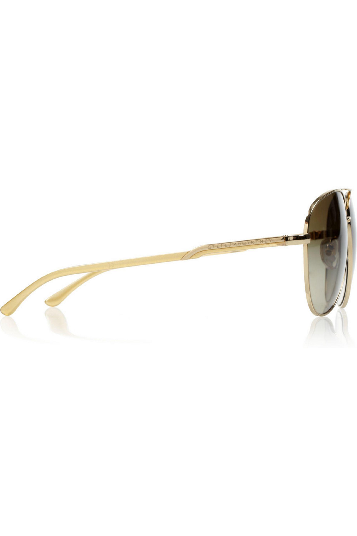 Stella McCartney Aviator metal and acetate sunglasses