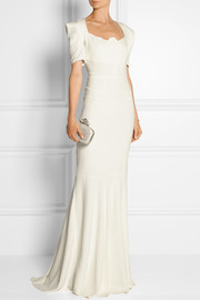 Jansen stretch-crepe gown