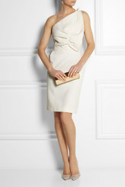 Roland Mouret One-shoulder wool-blend dress