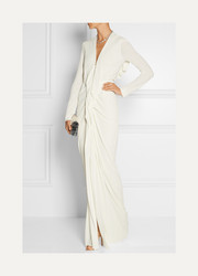Compeyson open-back stretch-crepe gown