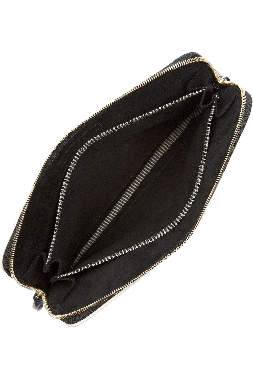 NewbarK Snake-effect leather clutch