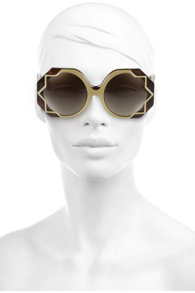 077ab59b82 Star-detailed round-frame acetate sunglasses