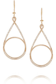 Ileana Makri Spiral 18-karat rose gold diamond earrings