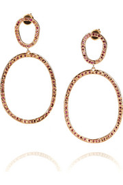 Ileana Makri Again 18-karat rose gold diamond earrings