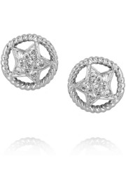 Ileana Makri Sheriff 18-karat white gold diamond stud earrings