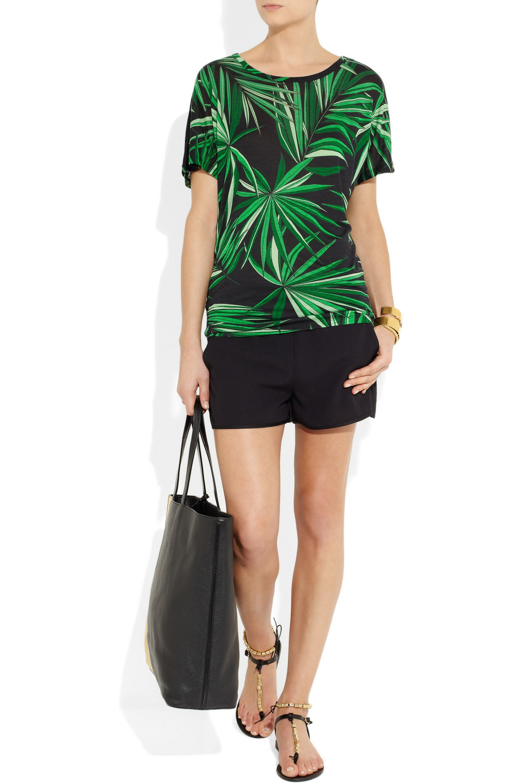 MICHAEL Michael Kors Palm-print jersey T-shirt