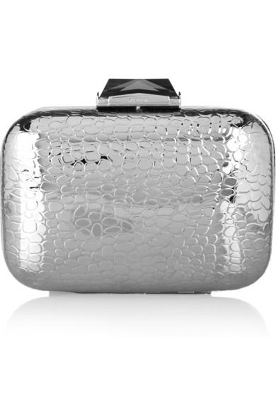 fb5083a3689 Kotur | Morley croc-embossed metal box clutch | NET-A-PORTER.COM