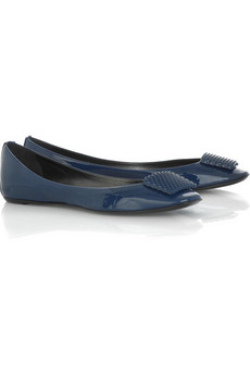 Belle by Sigerson Morrison Brooch-front ballerina flats