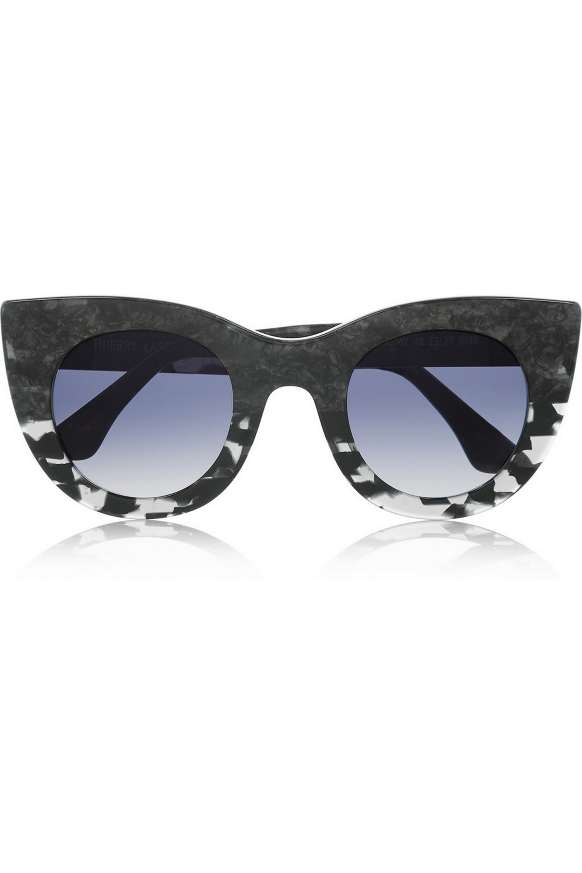 Thierry Lasry Cat eye marble-effect acetate sunglasses
