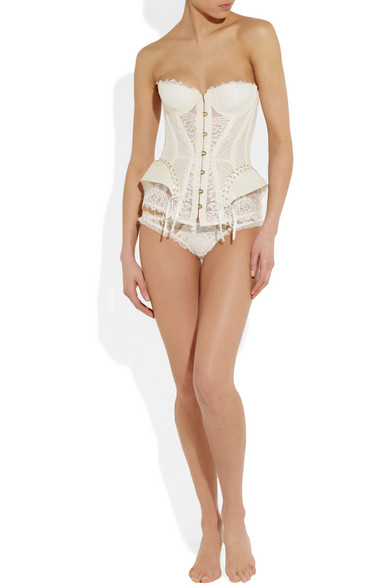 Agent Provocateur | Raphaella lace and tulle corset
