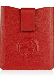 Gucci Soho GG textured-leather iPad sleeve