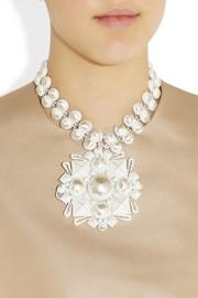 Bottega VenetaEnameled sterling silver necklace