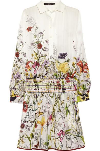 4cd7dedda Gucci. Floral-print silk-crepe dress