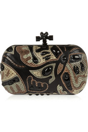 The Knot patchwork ayers and leather clutch