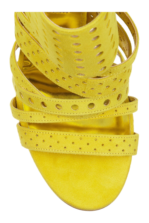 Jimmy Choo Malika perforated suede sandals
