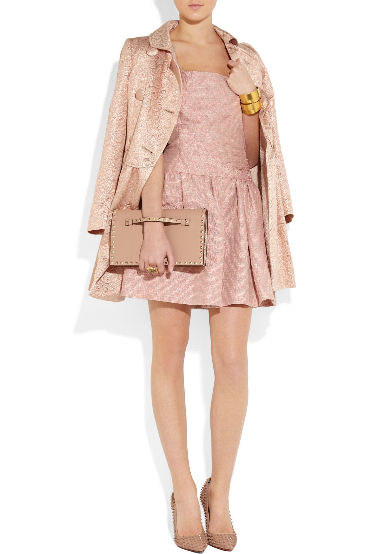 REDValentino Double-breasted brocade coat